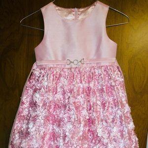 Girls Pink Ruffle Dress Size 6/6x